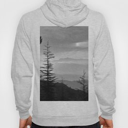 Rainbow clouds at the mountains at sunrise. BW Hoody