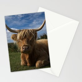 Rugged Highland Cow Stationery Cards