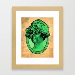 Portrait In Green Framed Art Print