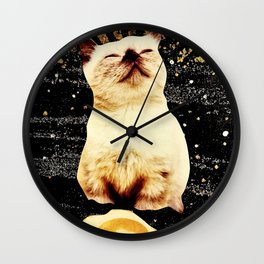 Catlightenment - Sunny Side Up in Space Wall Clock