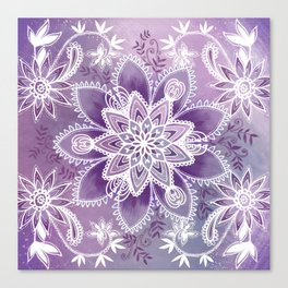 Happiness Purple Canvas Print