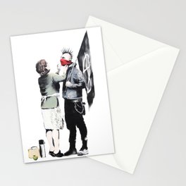 Banksy, Punk with mother Stationery Cards