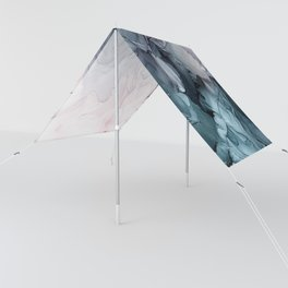 Blush and Payne's Grey Flowing Abstract Painting Sun Shade