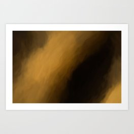 Abstract Orange Beige and Black Shades. Painting Style. Art Print