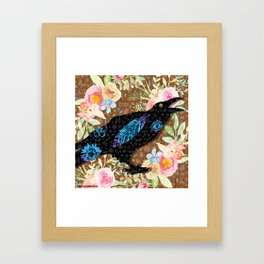 M is for Murder - Just Caws Framed Art Print