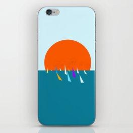 Minimal regatta in the sun iPhone Skin