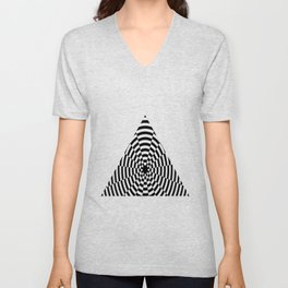 Monochrome Daze Black and White Triangle Unisex V-Neck