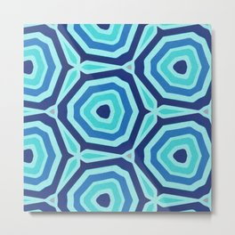 Bet on Blue - Abstract Circles Metal Print