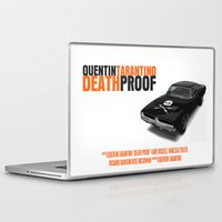 movie poster Laptop & iPad Skins featuring Death Proof Movie Poster by FunnyFaceArt