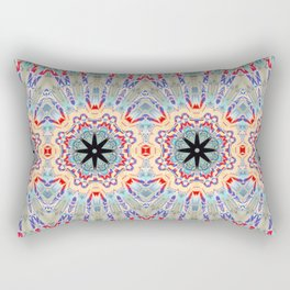 Multi Turquoise Mandala Pattern Design Rectangular Pillow