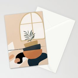 Plant in a Pot Stationery Cards