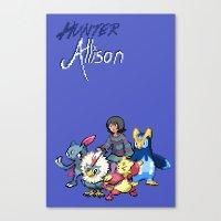 allison argent Canvas Prints featuring PokeWolf: Allison Argent by Trickwolves
