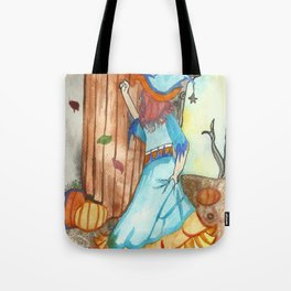 Knocking Witch Tote Bag