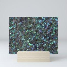 Abalone Shell | Paua Shell | Sea Shells | Patterns in Nature | Natural | Mini Art Print