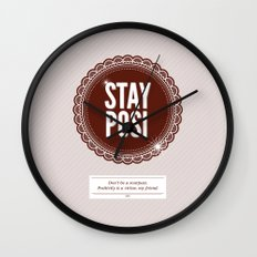 Stay Posi Wall Clock