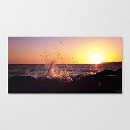 Splish Splash by seaside Canvas Print
