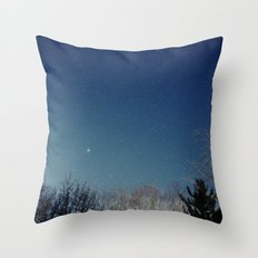 night/stars Throw Pillow