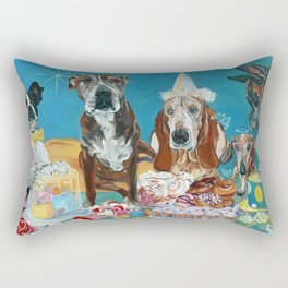 The Last Dessert Dog Portrait Rectangular Pillow