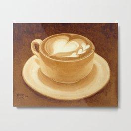 Heart Latte Metal Print