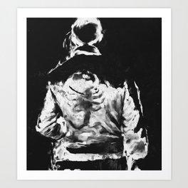 en lo blaco e negro Art Print
