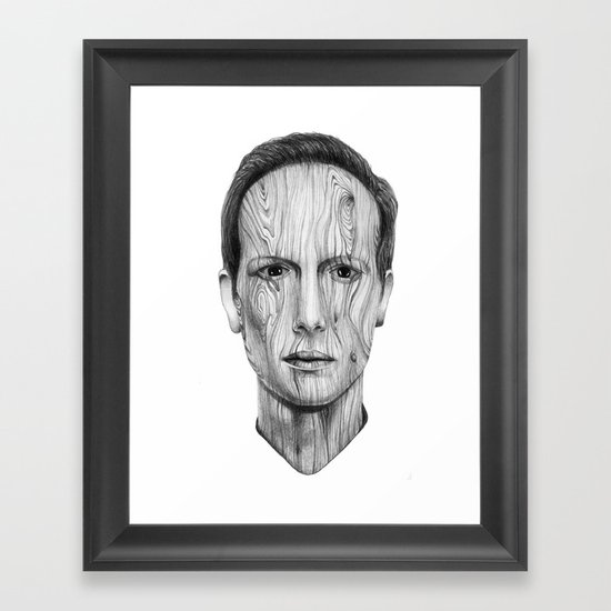 Wood Man Framed Art Print