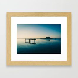 Airport Landing Lights Framed Art Print