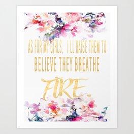 As For My Girls Wall Print Art Print