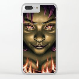 Need some fire? Clear iPhone Case