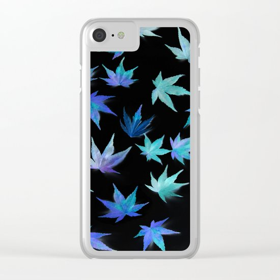 AUTUMN ROMANCE - LEAVES PATTERN #1 #decor #art #society6 Clear iPhone Case