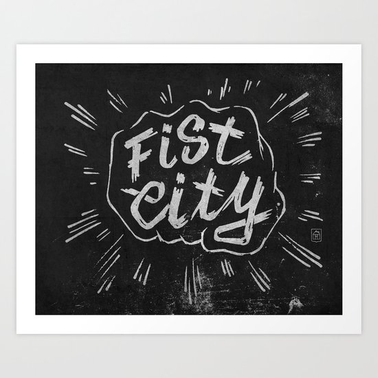 Fist City Art Print