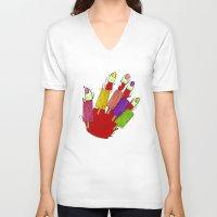 dexter V-neck T-shirts featuring DEXTER by Gianluca Floris