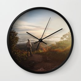 Tea first or adventure now? Wall Clock