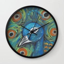 Peacock Head Wall Clock