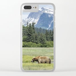 Male Brown Bear at Lake Clark NP Clear iPhone Case