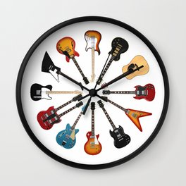 Guitar Circle Wall Clock