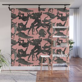 Nude Fighting Dudes Wall Mural