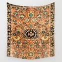 Sarouk Poshti Vintage Persian Rug Print by vickybragomitchell