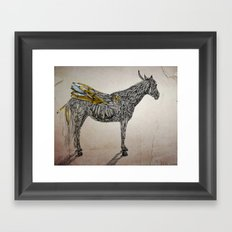 Feather Horse  Framed Art Print