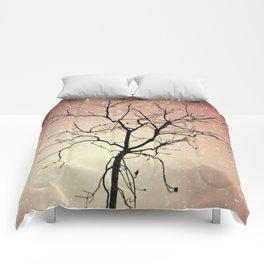 Fiery Night Sky Comforters