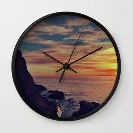 Californian Sunset - night Wall Clock