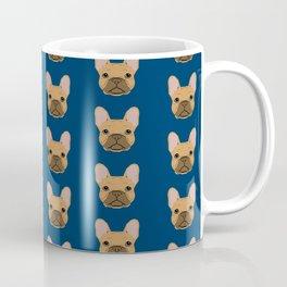 French Bulldog fawn coat dog head cute pet portrait custom dog breeds Coffee Mug