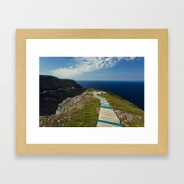 skyline walkway Framed Art Print