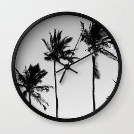 cocotier noir Wall Clock