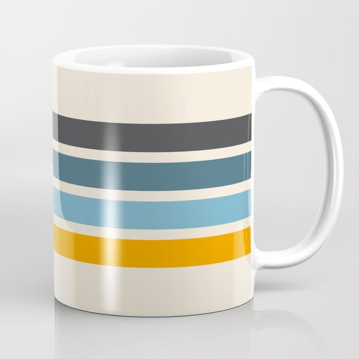 Vintage Retro Stripes Kaffeebecher