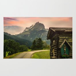Cabin & Mountain Landscape Rug