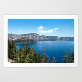 Deep so Blue - Crater Lake, Oregon Art Print