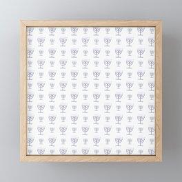 Menorah 21 Framed Mini Art Print