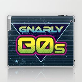 Totally Gnarly 80s Retro Design Laptop & iPad Skin