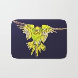 Flying Australian Budgie Bird Parakeet Bath Mat