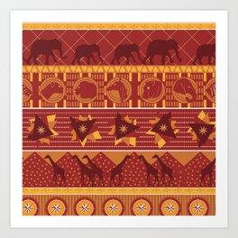 Serengeti Umber Art Print